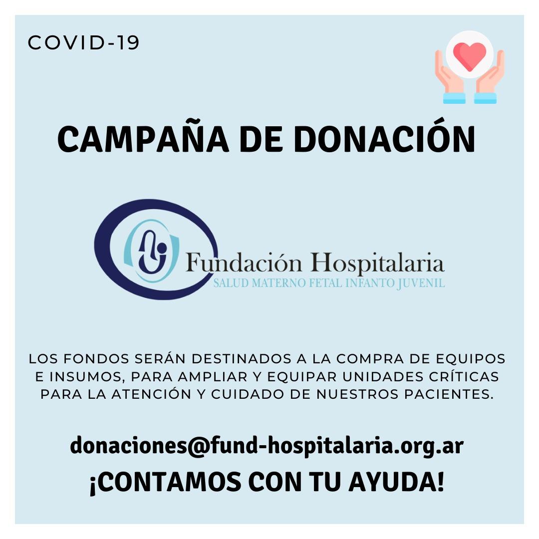 Campaña de donación Coronavirus Covid-19
